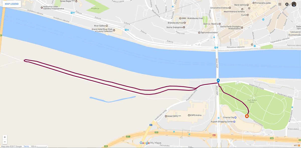 Pôvodná trasa na 5 km naboso
