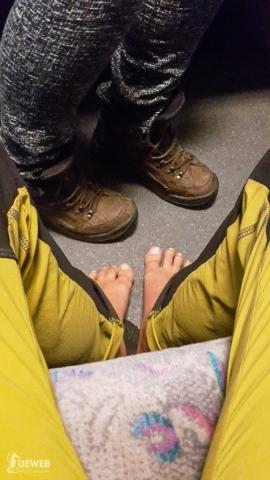 Ako vždy, vo vlaku mi býva teplo.