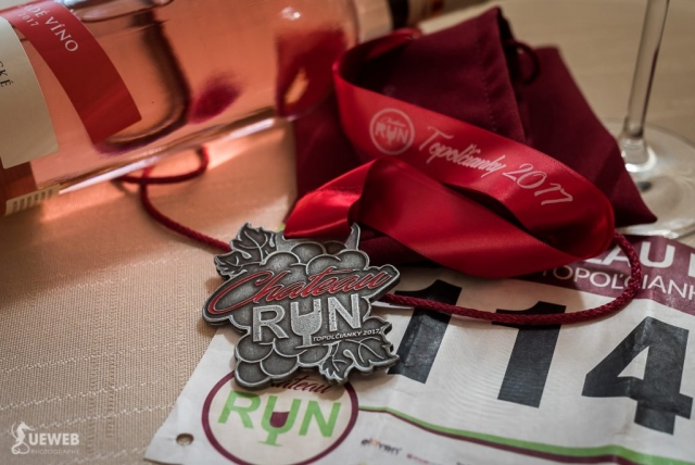Krásna medaila z pretekov Chateau run Topoľčianky 2017