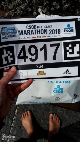Moje číslo na pomaratón