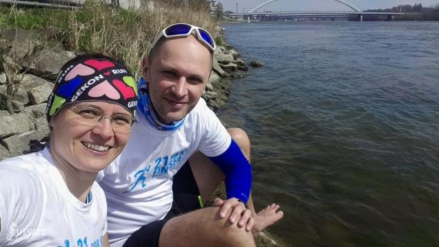 S Andrejom relaxujeme na brehu Dunaja, fantázia