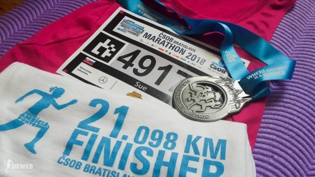 Áno, som hrdý finisher polmaratónu
