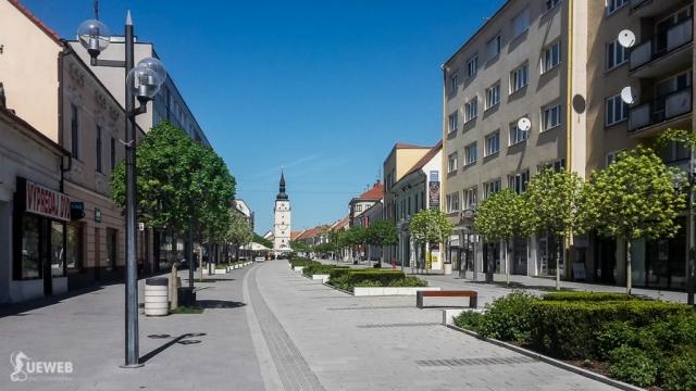 Trnava má peknú pešiu zónu v centre mesta