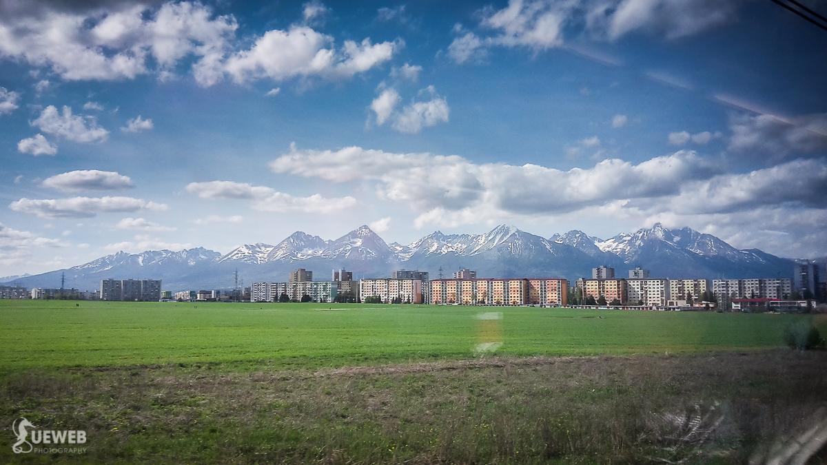 Jeden z krásnych výhľadov cestou vlakom