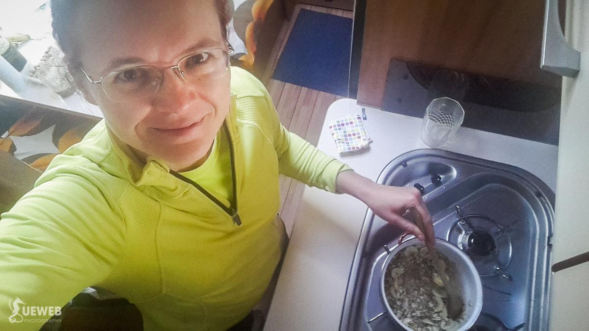 Robím si karavanové raňajočky vločkové