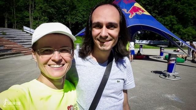 S kamarátom Danielom, ktorý ma prišiel dnes podporiť