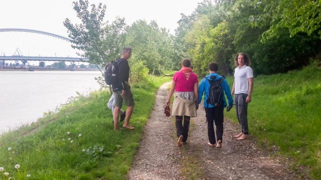 Užívame si cestičku popri Dunaji